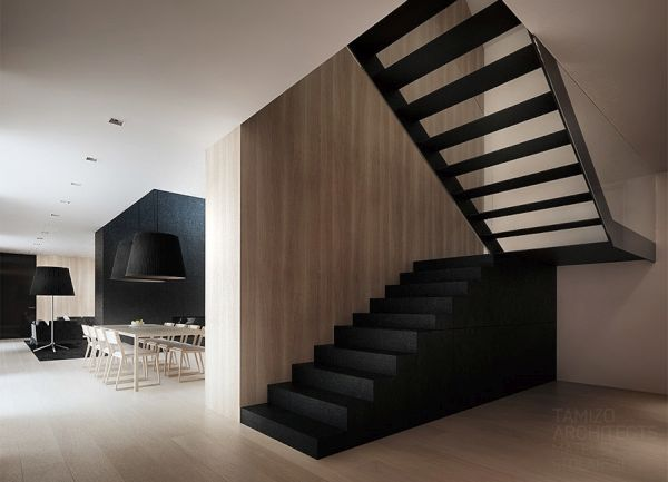 Using black in the staircase