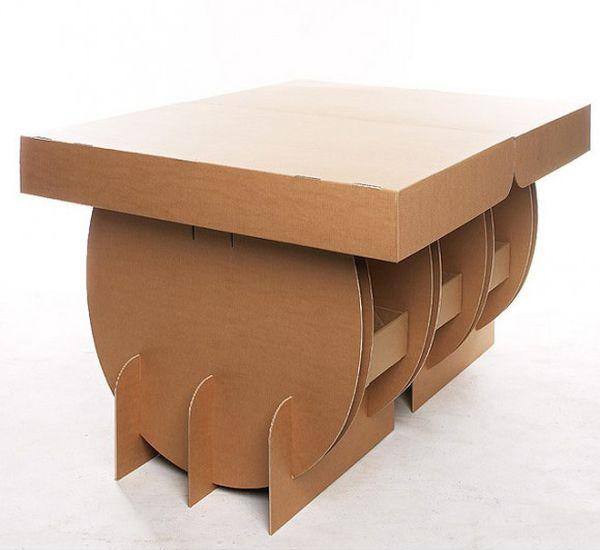 amazing cardboard table