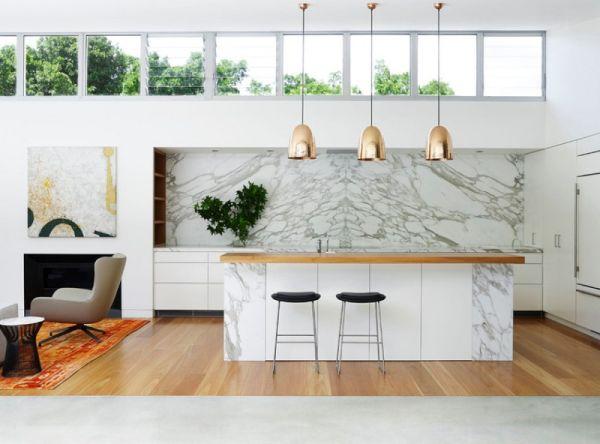 classy marble backsplash