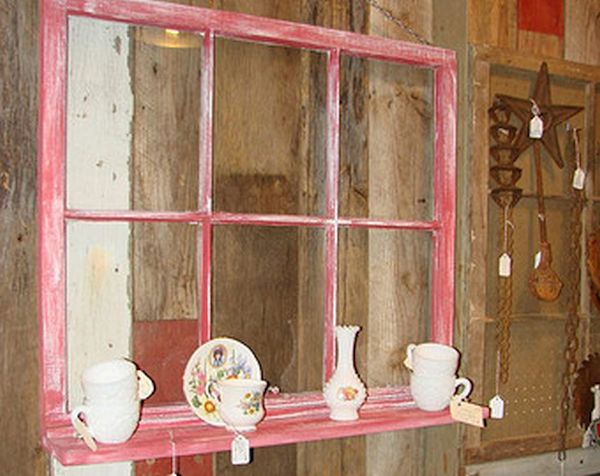 A hanging shelf