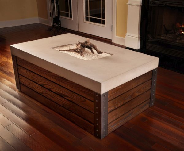 Concrete-Wood Coffee Table