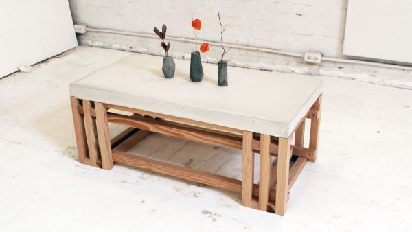 DIY Customized Concrete Table
