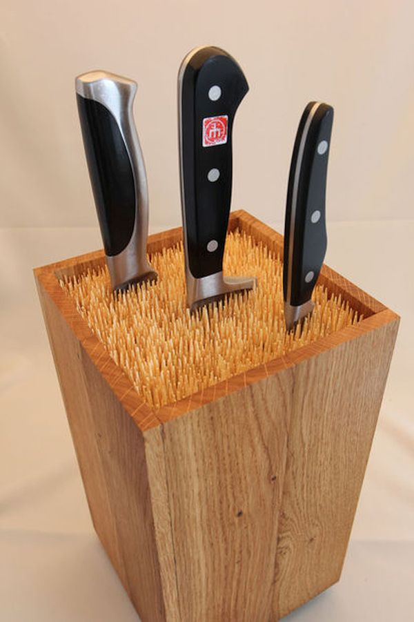 DIY knife blocks