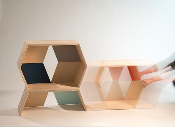 Stack modular shelving system 3