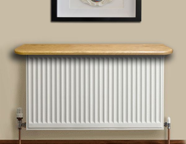 Using radiator as a shelf