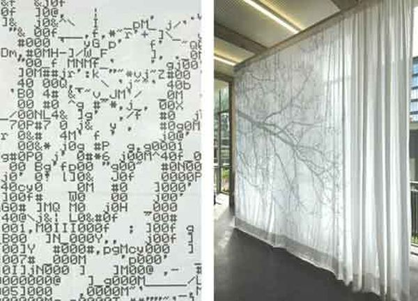 ASCII Code Curtain