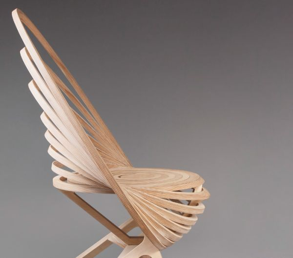 Octave Spiral wooden armchair 2