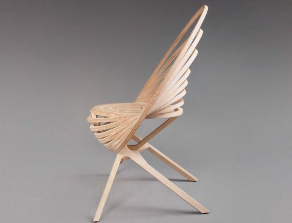 Octave Spiral wooden armchair 3