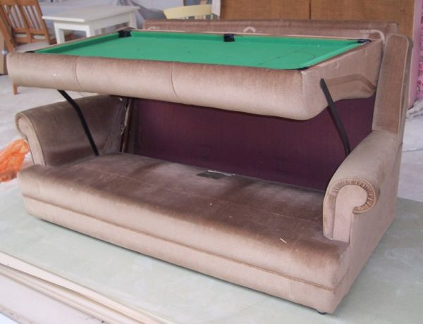 The snooker table sofa