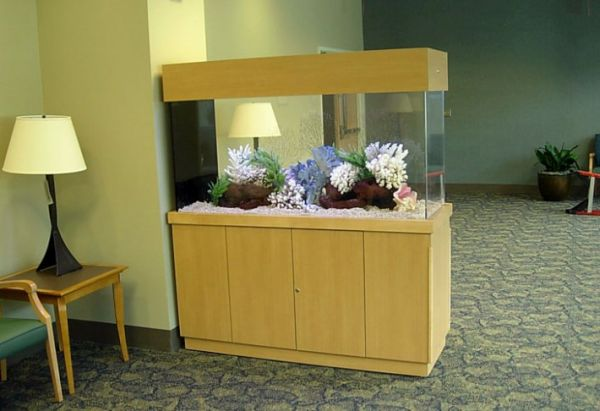 dividers home decor with built-in aquarium