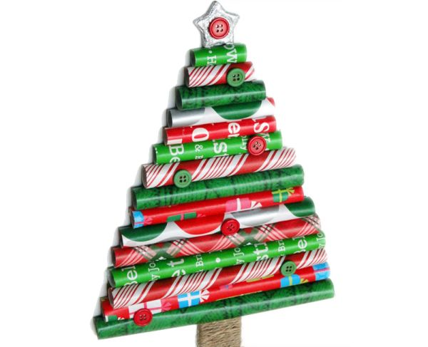 Gift Wrap Roll Christmas Tree