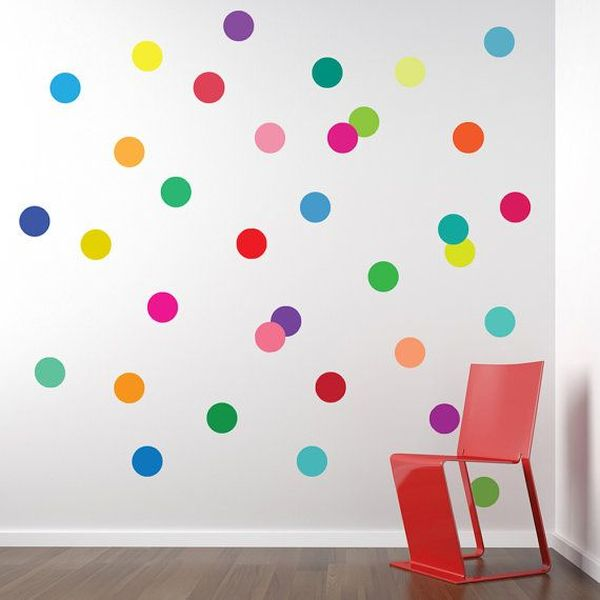 Confetti polka dot wall decal