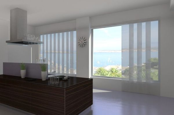 Large windows and glass doors