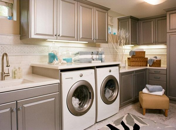 Altering the laundry room to make it rhyme with the latest washing machines