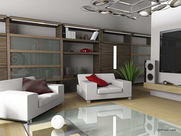 Modern interior of an apartment