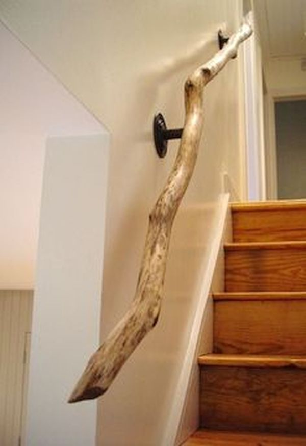 Wooden Branch Handrail