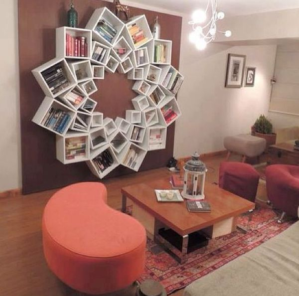 Mandala Flower Bookshelf