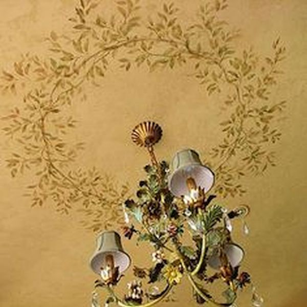 Stencil Designs and Scone Lighting