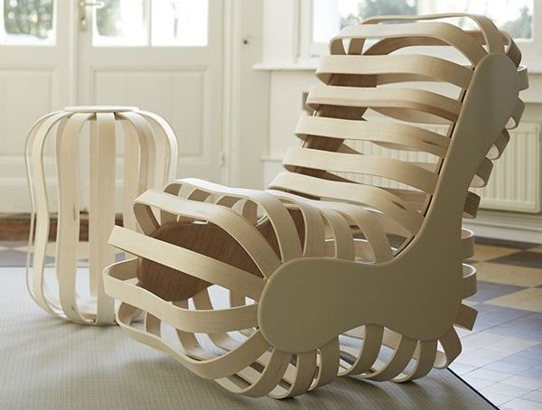 Fauteuil Camille Bentwood Rocking Chair (2)