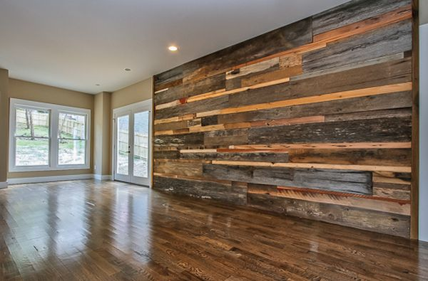 Feature Wall Using Reclaimed Wood