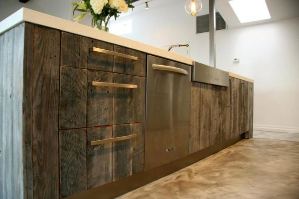 Kitchen Cabinetry using Reclaimed Wood