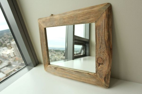 Reclaimed Barn Wood Mirror Frame