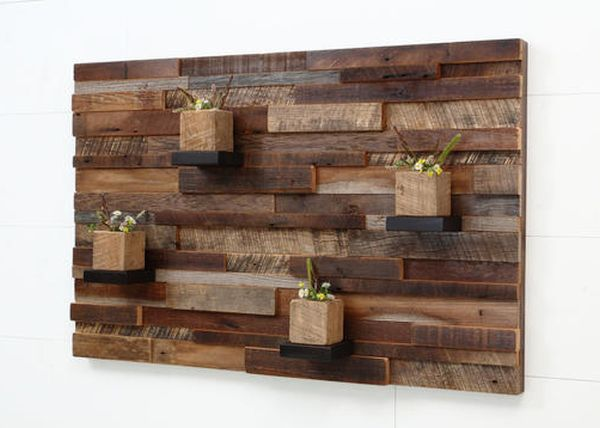 Reclaimed Wood Art Shelf
