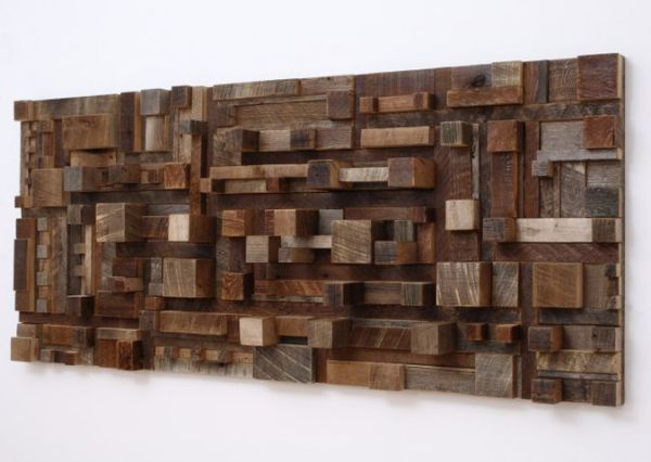 Reclaimed Wood City Scape Wall Art
