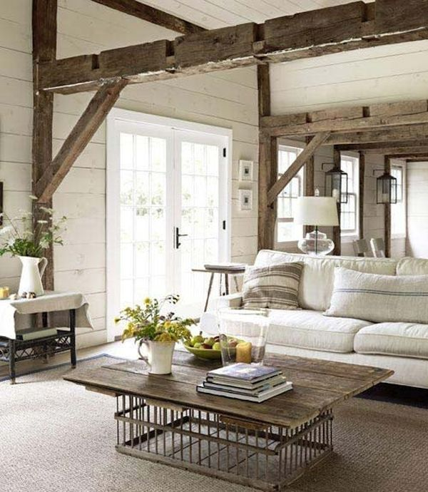 Wooden Beams using Reclaimed Wood