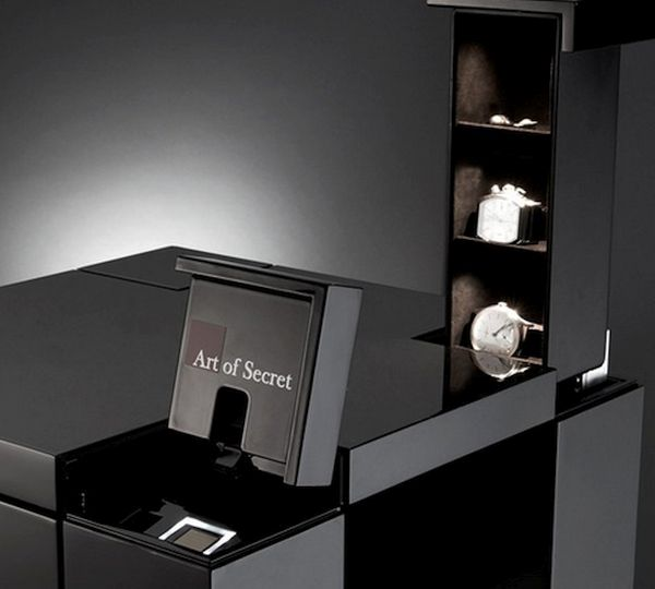 Biometric Fingerprint Is A Working Piece Of Furniture Made Up Of Costly  Wood And Alcantara. The Piece Crafted With Elegance Contains Three Secret  Drawers ...