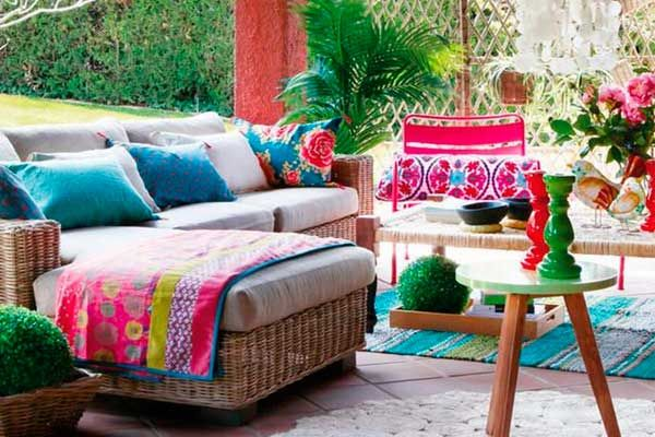 Bohemian touch to your terrace
