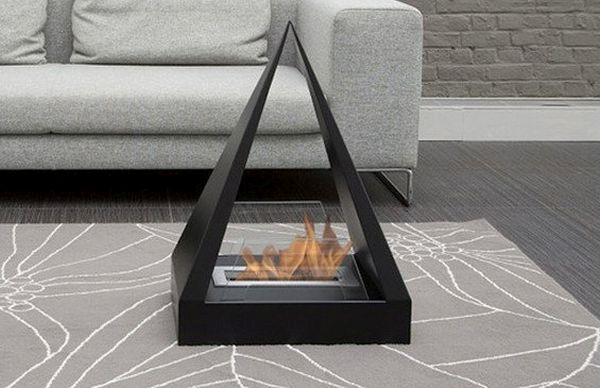Keops Freestanding Fireplace
