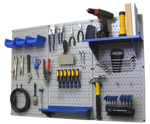 Steel pegboards for tool storage