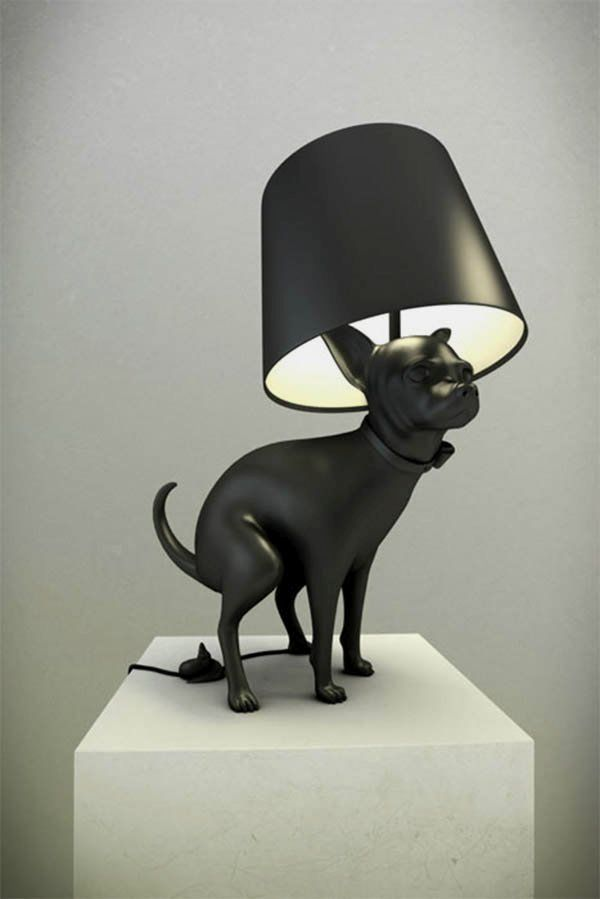 Lamp with dog's poop switch button