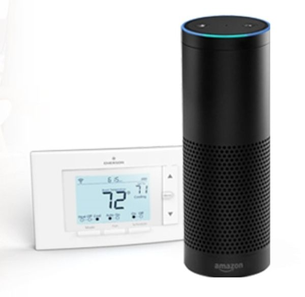 Sensi thermostat works with Amazon Echo