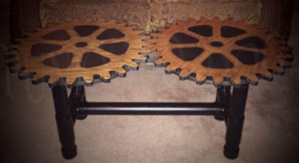 Steampunk Dual Gear Coffee Table