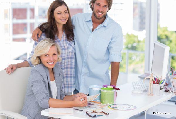 Team of interior designer