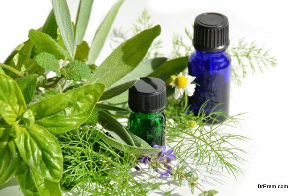 essential oils with herbs