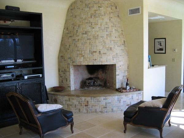 curved-stone-fireplace