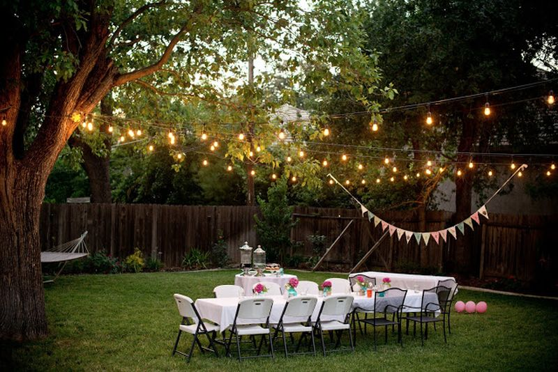 Garden Pathway And Backyard Decorating Ideas For A Graduation Party - Backyard decorating ideas