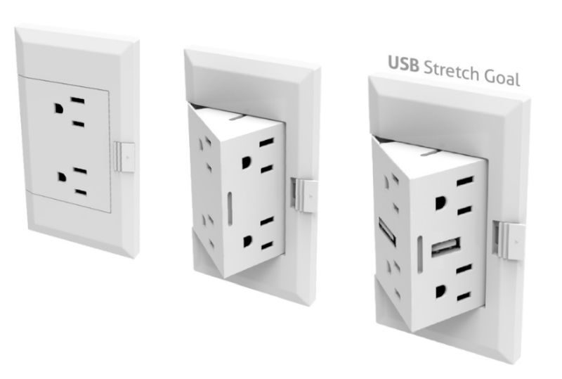 The Second Design Of Pop Up Electric Socket There Is A Small Twist It Looks Like An Ordinary From Outside When Pops Out