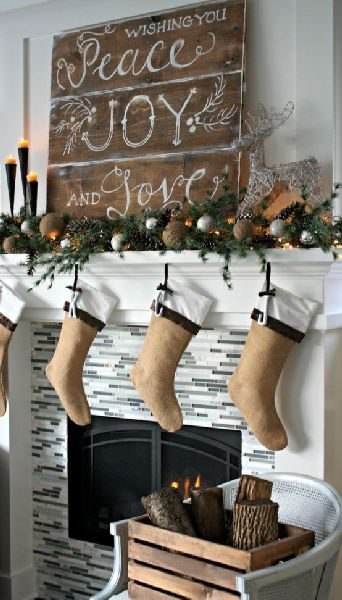 rustic Christmas décor