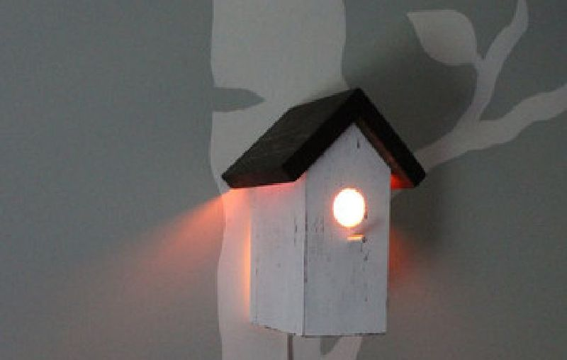 Birdhouse night lamps