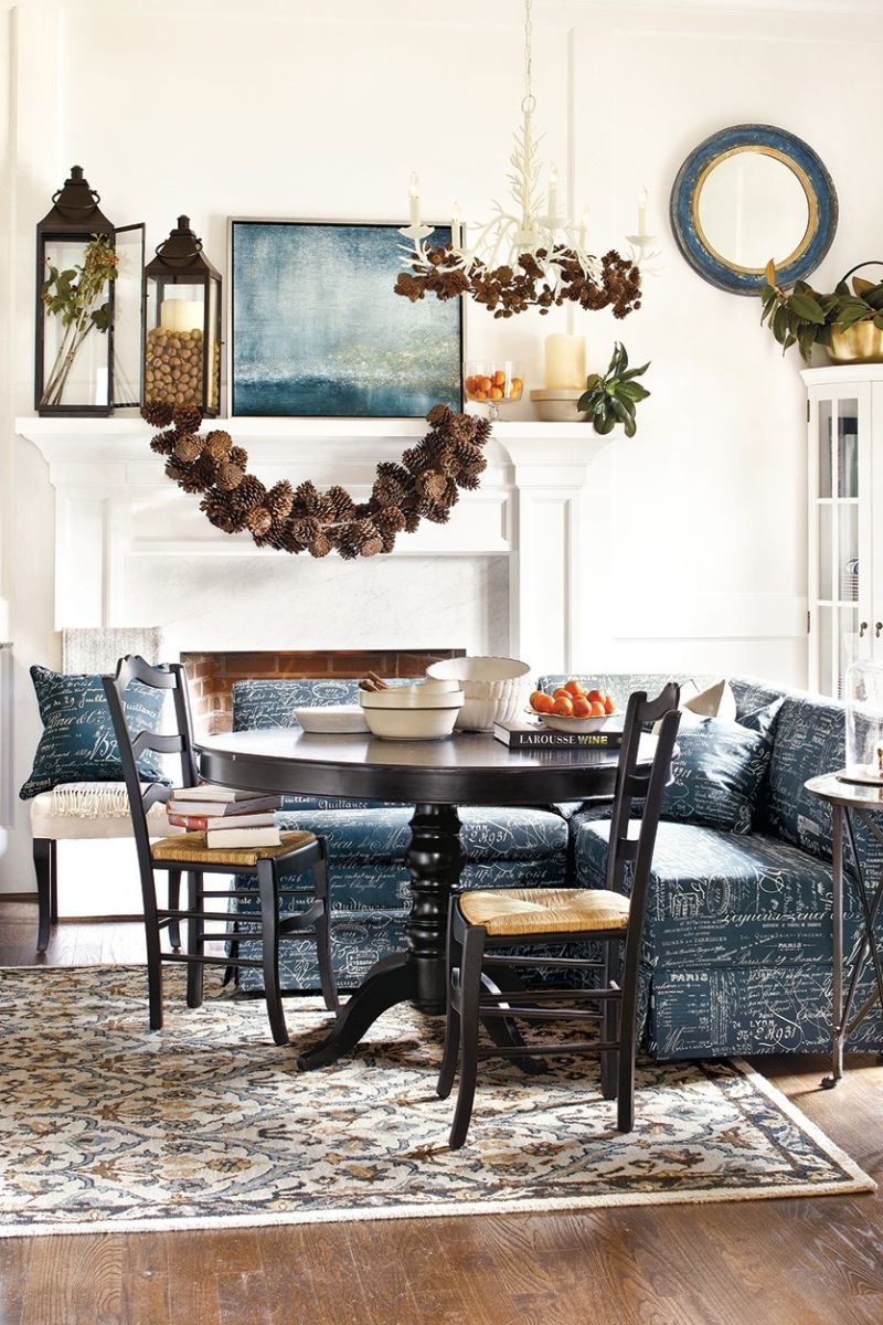 Decorate your dining table with pinecones
