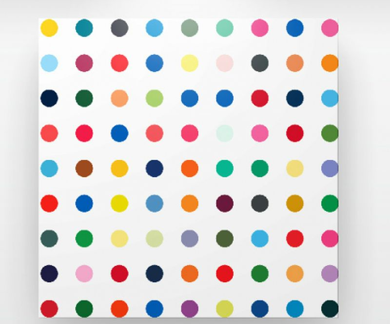 polka dots canvas art home decor ideas