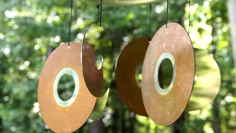 cd wind chime