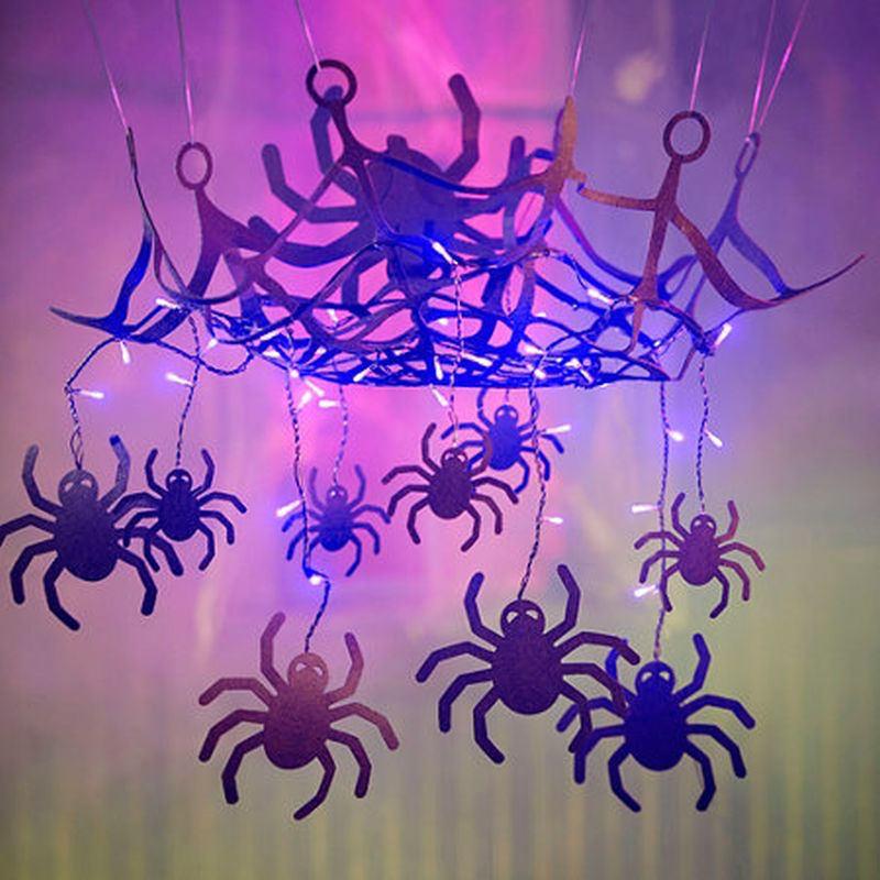 Spiderweb chandelier design ideas for Halloween