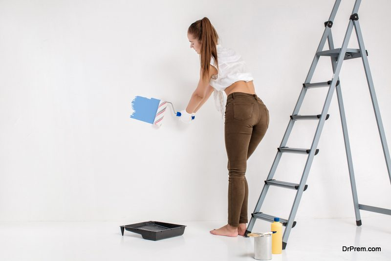 colouring a wall