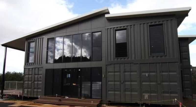 The budget-friendly shipping container house
