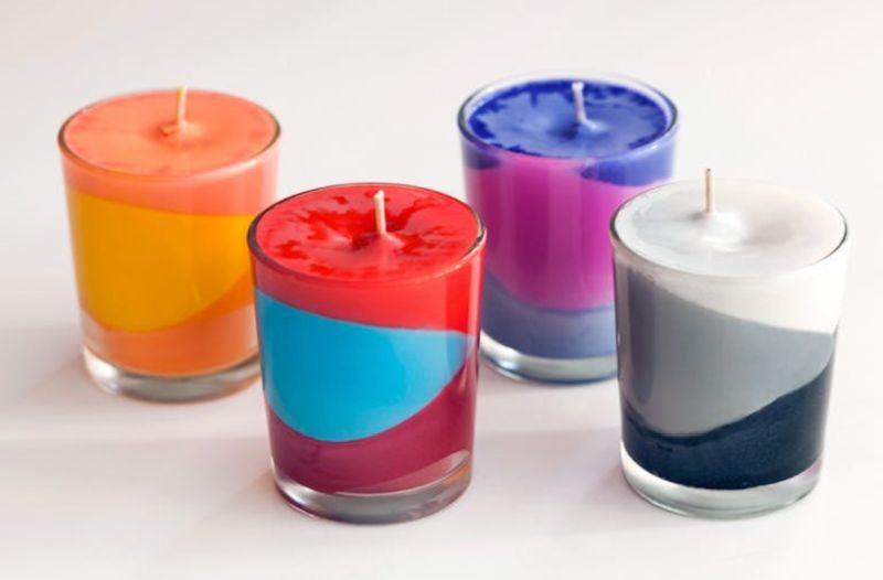 Beautiful crayon candles